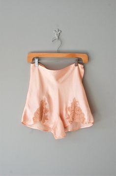 vintage 1930s silk & lace tap pants     https://www.etsy.com/listing/101615984/30s-tap-pants-1930s-lingerie-lace-tap