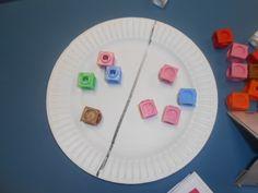 Finding half of a number Maths 3e, Maths Eyfs, Eyfs Classroom, Eyfs Activities, Fraction Activities, Math Games, Numeracy, Fraction Games, Maths Resources