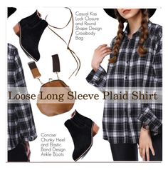 """""""plaid shirt"""" by paculi ❤ liked on Polyvore"""