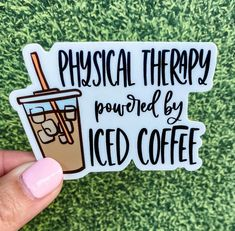 Physical Therapy, Occupational Therapy, Coffee Photos, Sticker Shop, Iced Coffee, Physics, Etsy, Xmas, Gift Ideas