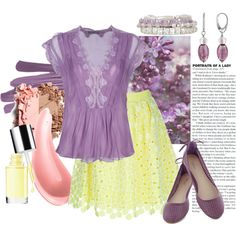 """""""3/50: Yellow + Purple"""" by eiluned on Polyvore"""