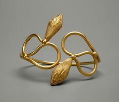 Gold Bracelet, Ptolemaic period, Egyptian.