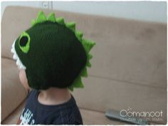 "Crochet Dragon Hat Tutorial: From ""How to Train Your Dragon""; free pattern and photo-tutorial written and posted by Rina, of ""Oomanoot""."