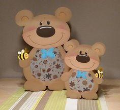 Fall Crafts, Diy And Crafts, Wood Crafts, Paper Crafts, Bear Card, Toddler Crafts, Design Crafts, Gifts For Kids, Art For Kids