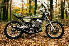 Yamaha RD400 Street Tracker by Atlanta Motorcycle Works #motorcycles #streettracker #motos | caferacerpasion.com