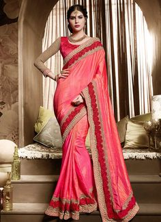 Buy Affectionate Embroidered Work Silk Designer Traditional Sarees #sarees #royal #designersarees #ethnic #glamour #sareelove #sareesonline #womensarees #indianwear
