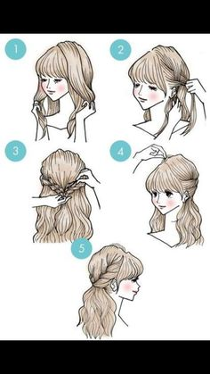 DIY tutorials on how to style your hair in 3 minutes. Quick and easy hairstyles. Techniques to style your hair and look elegant in no time. Cute Simple Hairstyles, Fast Hairstyles, Pretty Hairstyles, Braided Hairstyles, Short Hairstyle, Makeup Hairstyle, Hairstyle Ideas, Easy Morning Hairstyles, Easy Diy Hairstyles