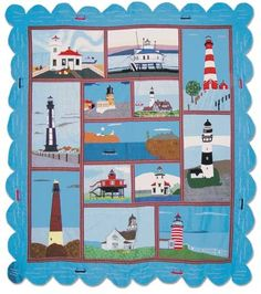 Lighthouse Gallery Appliqued Quilt