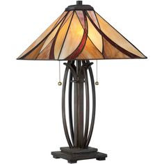 Buy the Quoizel Valiant Bronze Direct. Shop for the Quoizel Valiant Bronze Asheville 2 Light Tall Table Lamp with Tiffany Glass Shade and save. Asheville, Tiffany Glass, Stained Glass Lamp Shades, Glass Shades, Stained Glass Table Lamps, Tiffany Style Table Lamps, Tall Table Lamps, Bedroom Lamps, Bedroom Lighting