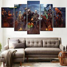 Wandkunst Leinwand HD Gedruckt 5 Stücke Fortnite Role Painting Spiel Poster  Für Moderne Wohnzimmer Decor Modularen