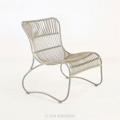 Teak Warehouse | Weave Wicker and Aluminum Relaxing Chair