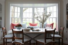 bay window kitchen table bench - Google Search