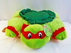 "Pillow Pets Teenage Mutant Ninja Turtles Raphael Plush Toy 18"" New with Tag #PillowPet #TMNT"