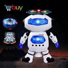 Mooie Elektrische Smart Ruimte Walking Dansen Robot voor Kinderen Kids Muziek Licht Model Veilig Speelgoed Huisdieren Gift