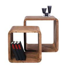 Las mesitas auxiliares de cubos de la colección Authentico de Kare tiene el toque entre rústico y moderno ideal para armonizar el estilo de los ambientes de tu casa.