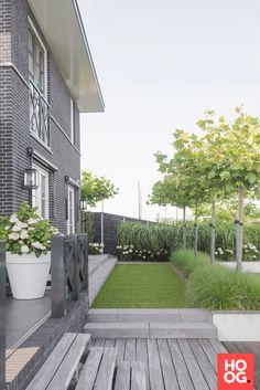 Moderne tuin met gras - Vorgarten ideen Modern garden with grass Modern garden with grass The post M