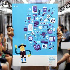 [ SNS 디자인 캠페인 One : hoppin ] #Design #OneNAnother #hoppin #SKplanet #Poster #InchulCha