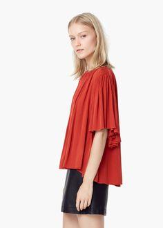 Blusa fluida - Camisas de Mulher   MANGO