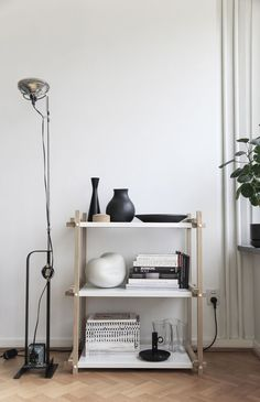 Woody shelving by HAY. Love this and may get the small one for the bedroom