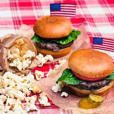 The perfect addition to your summer barbeque: Popcorn, Indiana popcorn. #summer #popcorn #bbq #burgers #cookout #perfect #onthegrill #grilling #matchmadeinheaven #america