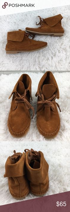 NEW Lucky Brand Suede Moccasins NEW Brown Suede Lucky Brand moccasins, never worn. Lucky Brand Shoes Ankle Boots & Booties