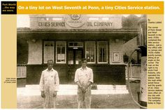 Cities Service Oil Co. at 7th & Penn, Ft. Worth, Texas. 1930s.