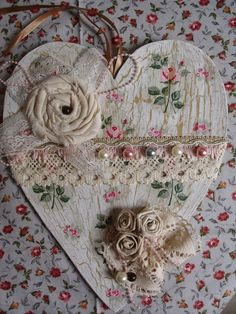 The thoughts and perceptions of an aspiring writer on life and the world around her Vintage Valentines, Valentine Day Crafts, Valentine Decorations, Valentine Heart, Shabby Chic Crafts, Vintage Crafts, Shabby Chic Embellishments, Scrapbooking, Christmas Embroidery Patterns
