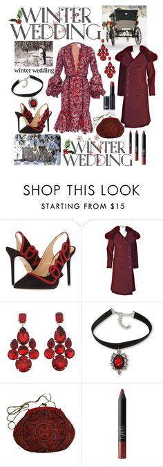 """Winter Wedding🥀"" by mandimwpink ❤ liked on Polyvore featuring Charlotte Olympia, Christian Dior, Dolce&Gabbana, Judith Leiber, NARS Cosmetics, Lipstick Queen and winterwedding"