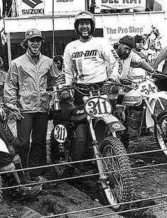 buck murphy motocross | Buck Murphy next to his prototype 366cc CanAm at the 1976 Puyallup ...