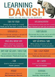 How to be polite in Danish - Copenhagen Language Center - Copenhagen Language Center Speak Danish, Danish Words, Visit Denmark, Denmark Travel, Denmark Food, Danish Language Learning, Learning Spanish, Denmark Culture, Scandinavian
