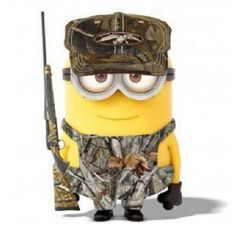 Country folks put camo on everything, even Minions ~ღ ~