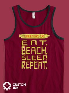 272322c922 Eat Beach Sleep Repeat is the perfect funny saying for your custom family  beach vacation t