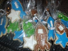 Rocket cookies for a baby shower