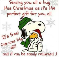 Sending You All A Hug This Christmas As It's The Perfect Gift For You All