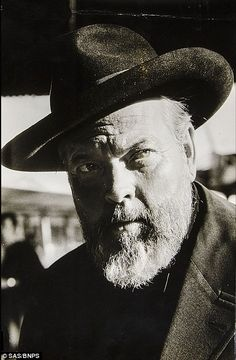 Film still of Orson Welles in F For Faketaken in Paris in 1971 on the Gare De' Austerlitz