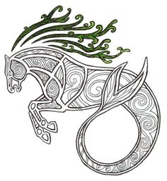 Beautiful celtic design - Kelpie