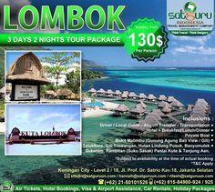 Satguru Indonesia - Travel Management Company, 1 : Hello travelers, mau liburan ke Lombok bersama kami mengunjungi beberapa lokasi wisata menarik seperti Gili Trawangan, Pantai Kuta Lombok dan Bukit malimbu yang indah dengan harga terjangkau dan kenyamanan bersama keluarga? 👉Hubungi kami dan pesan sekarang juga! *harga sewaktu-waktu bisa berubah. -------------------------- 💳Dapatkan diskon dan promo khusus lainnya di bulan ini. -------------------------- 🏠Hubungi kami atau kunjungi…