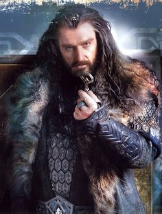 Thorin Oakenshield with the key to Erebor.