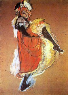 Henri de Toulouse Latrec  Jane Avril Dancing  1893