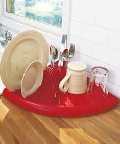 Space Saver Corner Dish Dryer from Lakeside Collections