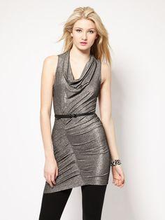 Cynthia Steffe Shandie Metallic Jersey Top