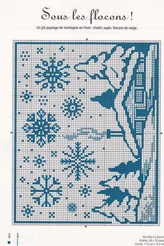 Xmas Cross Stitch, Cross Stitch Needles, Cross Stitch Charts, Cross Stitching, Cross Stitch Embroidery, Embroidery Patterns, Cross Stitch Patterns, Crochet Patterns, Filet Crochet