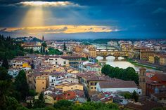 Sunset from Piazzale Michelangelo in Firenze (Florence)_ Italy