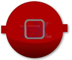 High Quality Gloss Red Home Button for iPhone 3G/3GS/4/4G 8GB/16GB/32GB | eBay