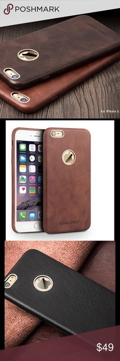 iPhone 6/6S Luxury Real Leather,Dark Brown 6S plus It might be a great gift  or you might get one for your phone. Coffee Color available for 6/6S. Dark brown is for 6S plus. screen protector included. I can order different colors based on request Accessories Phone Cases