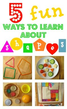 Love these simple, clever, fun ways to learn about shapes - for babies, toddlers and preschoolers Vanderzyden Vanderzyden Preschool Curriculum, Preschool Learning, In Kindergarten, Fun Learning, Learning Activities, Preschool Activities, Teaching Kids, Shape Activities, Toddler Fun