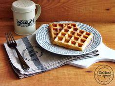 waffles para o pequeno-almoço