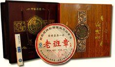 """Чай - Шу Пуэр """"Ban Chang"""" (подарочный Golden Dragon) 357гр."""