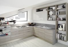 moduli cucina legno grigio - Cerca con Google