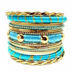 stacks on stacks on stacks... of bracelets.